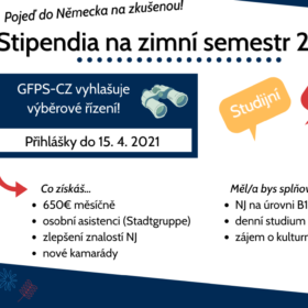 Stipendia na zimní semestr 2021/22 Německo